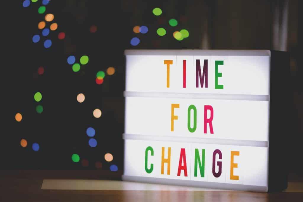 Zeit für Veränderungen